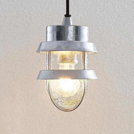 Lámpara colgante exterior Alvaro, color plateado