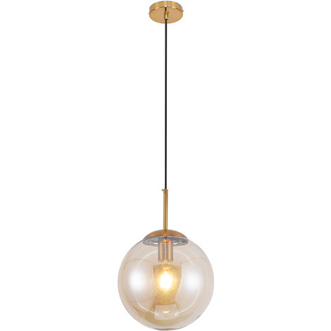 Lámpara colgante globo de cristal