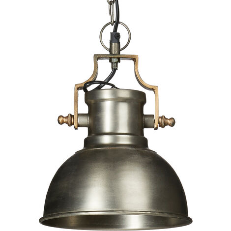 - Lámpara colgante, hecho de metal, 130 x 21 x 21 cm, pantalla en forma de campana, estilo industrial y vintage, zócalo E27 hasta 40W, color Antracita