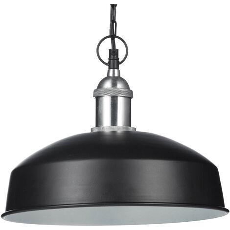 Lámpara colgante, Iluminación de techo, Diseño moderno, 142 x 31 x 31 cm, 1 Ud., Negro