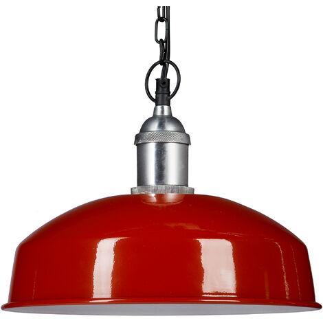 Lámpara colgante, Iluminación de techo, Diseño moderno, 142 x 31 x 31 cm, 1 Ud., Rojo
