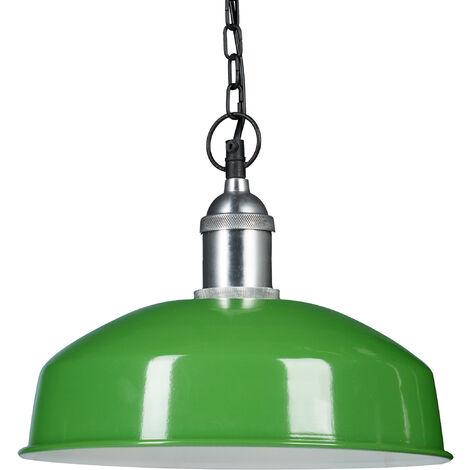 Lámpara colgante, Iluminación de techo, Diseño moderno, 142 x 31 x 31 cm, 1 Ud., Verde claro