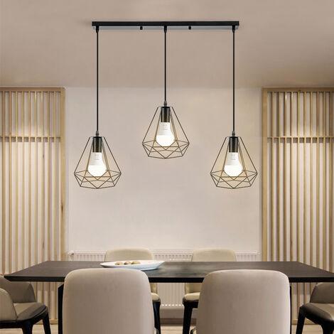 Lámpara Colgante Industrial Comedor Colgante lámpara colgante para mesa de comedor lámpara de comedor lámpara de sala dormitorio cocina vintage(sin bombilla)