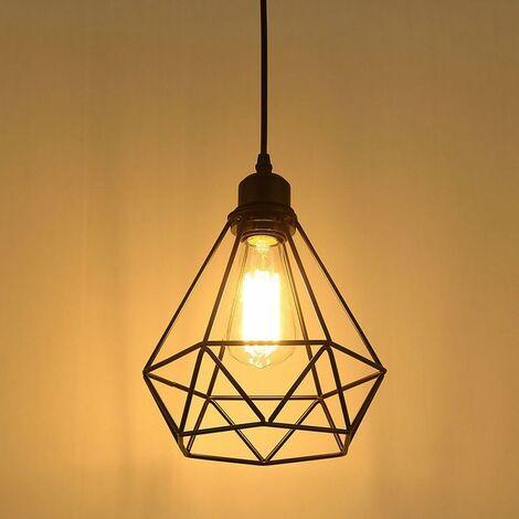 Lámpara colgante industrial, lámpara de techo con brillo retro, lámpara colgante vintage, lámpara de araña para restaurante, sala de estar, dormitorio, cocina, bar, pasillo (sin bombilla)