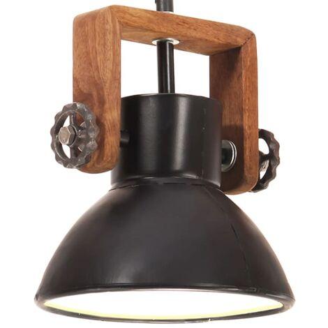 vidaXL Lámpara colgante industrial redonda 25 W negro 19 cm E27 - Negro