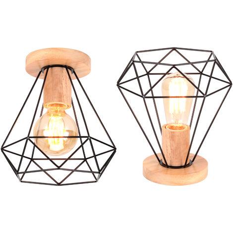 Lámpara Colgante Jaula de Hierro Cage de Pájaro Creativo Moderno Metal Luz de Techo Industrial Simple Decoracion de Cocina Comedor Pasillo Restaurante (Negro)
