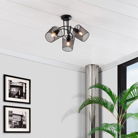 Lámpara Colgante Klam 3 Focos Negro Negro