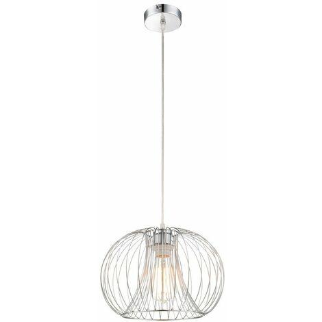 Lámpara colgante lámpara colgante metal cromo diseño rejilla H 120 cm salón comedor dormitorio