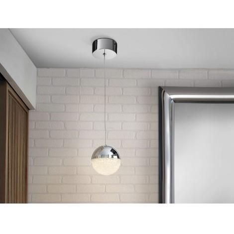 LAMPARA COLGANTE LED 12 CM SPHERE Color Cromo