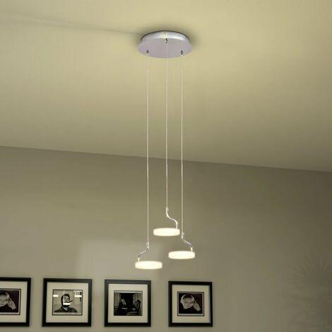 Lámpara colgante LED con 3 luces blanco cálido