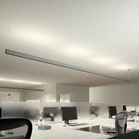Lámpara colgante LED de oficina Laris, plateada