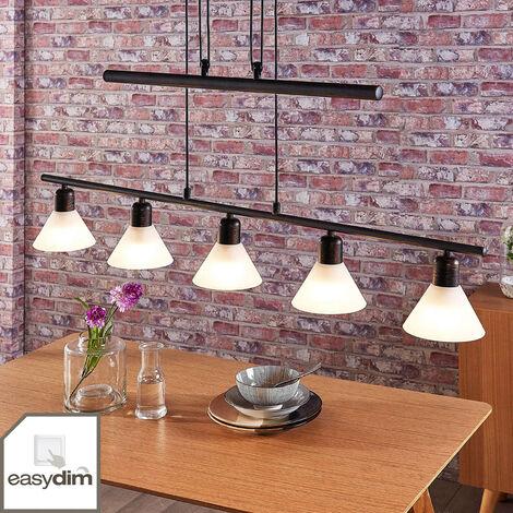 Lámpara colgante LED Eleasa, 5 luces, negro