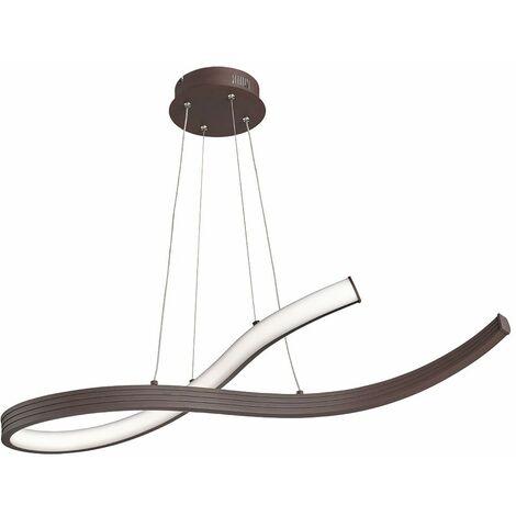 Lámpara colgante LED lámpara de techo comedor foco de péndulo óxido curvado Fischer 60498
