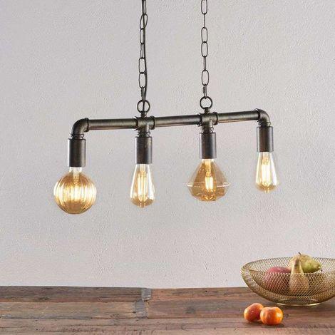 Lámpara colgante LED Leonas en estilo industrial