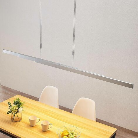 Lámpara colgante LED lineal con atenuador táctil
