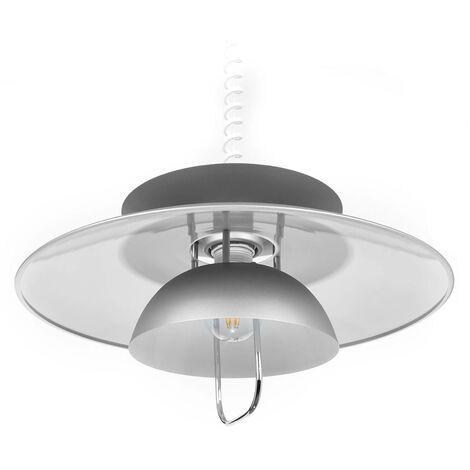 Lámpara colgante LED Nadija para comedor, gris