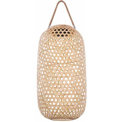 Lámpara colgante LED para jardín solar lámpara de soporte de diseño de bambú veranda patio proyector natural Globo 33671