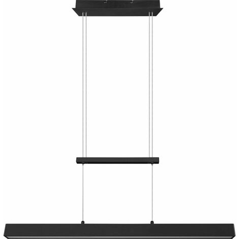 Lámpara colgante LED salón comedor péndulo plafón negro regulable en altura SWITCH -DIMMER