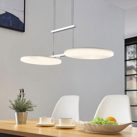 Lámpara colgante LED Sherko, altura regulable 2 l.