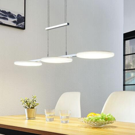 Lámpara colgante LED Sherko, altura regulable 3 l.