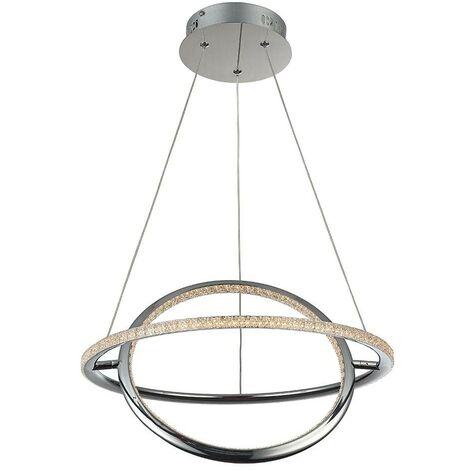 """Lámpara colgante LED """"SIRKLER"""" 28W efecto cuarzo"""
