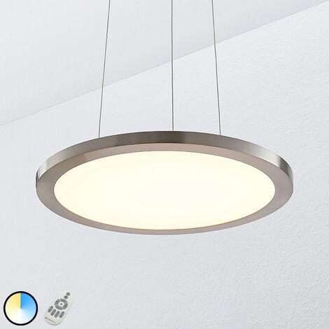 Lámpara colgante LED Tess, 40 cm, cromo
