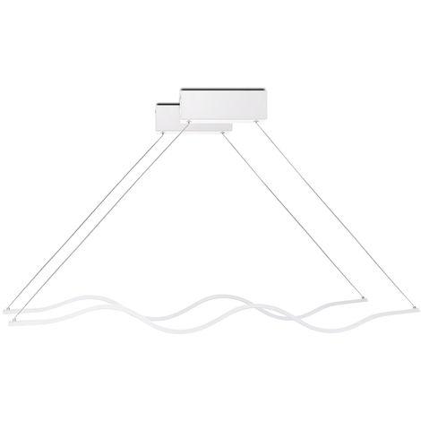 Lámpara Colgante LED Wave 2 X 24W 3840Lm 30.000H Sienna [HO-SUS-WV-2X24W-03-W] | Blanco Natural (HO-SUS-WV-2X24W-03-W)