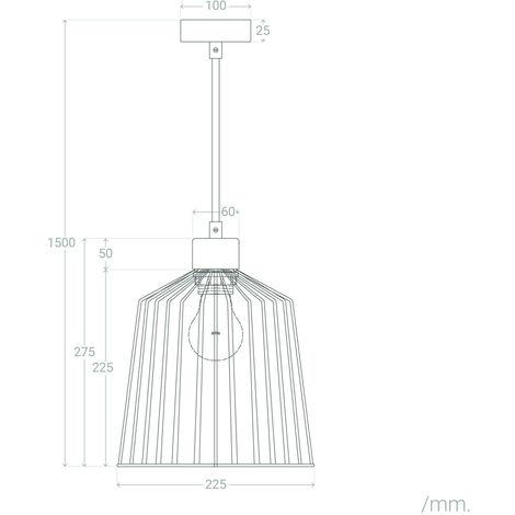 Lámpara Colgante Lesane Cobre AluminioAluminio