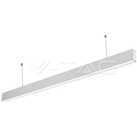 Lámpara colgante lineal LED Samsung 40W Plata V-TAC PRO LINKABLE
