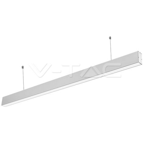 "main image of ""Lámpara colgante lineal LED Samsung 40W Plata V-TAC PRO LINKABLE"""