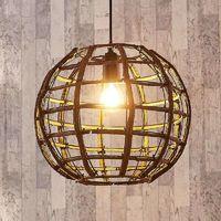 Lámpara colgante Manuela esférica, de madera