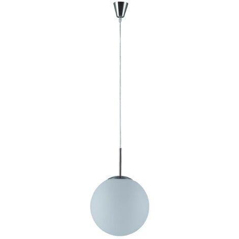 Lámpara colgante Marike vidrio opalino, blanco