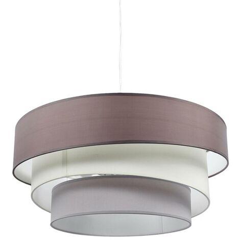 Lámpara colgante Melia de 3 capas, marrón y gris