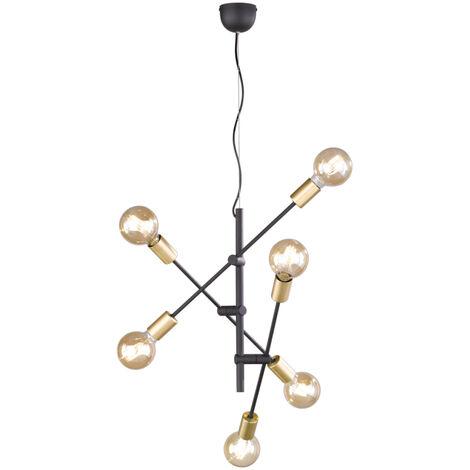 Lámpara colgante metálica de 6 luces E27 Cross (Trio Lighting 306700632)