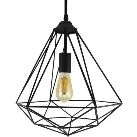 Lámpara colgante metálica tipo jaula modelo Maine E27 (GSC 0705242)