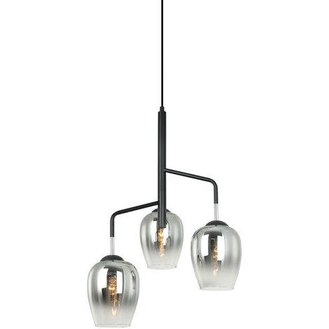 Lámpara colgante moderna Lesla Chrome, negro