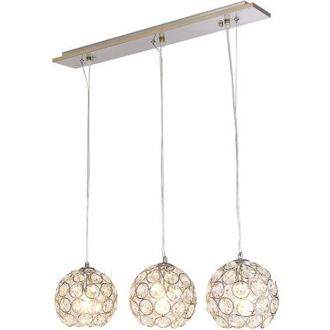 Lámpara colgante muy elegante - Cromo/plata - Lámpara de techo moderna