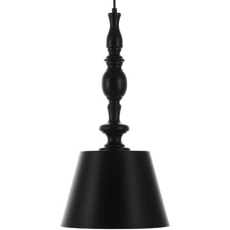 Lámpara colgante negra FLUVIA