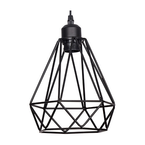 Lámpara colgante negra tipo jaula modelo Cristian (Fabrilamp 072992002)
