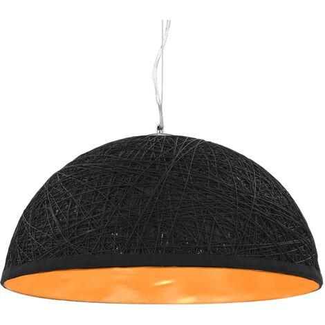 Lámpara colgante negro y dorado E27 Ø50 cm