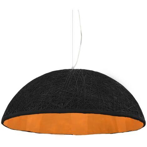 Lámpara colgante negro y dorado E27 Ø70 cm