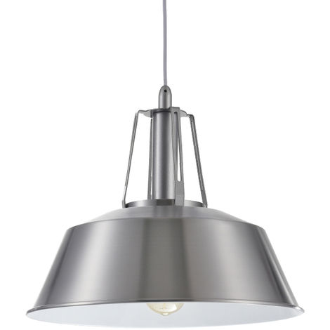 Lámpara colgante níquel modelo Edna E27 320x1400mm. (Ledesma 10468)