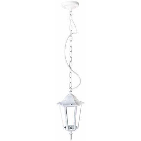 Lámpara colgante para jardín Serie Farolillo Classic IP44 Blanco