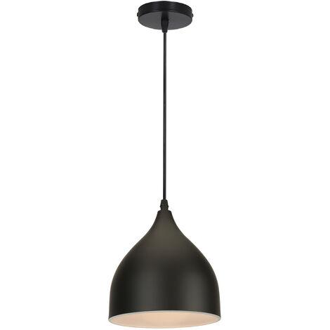Lámpara Colgante Retro Antigua Lámpara de Techo Moderna E27 Colgante de Luz Creativa Vintage para Cafe Bar Barn Negro
