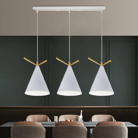 Lámpara Colgante Retro Moderna 3 Portalámparas Lámpara de Techo de Diseño Industrial Moderno E27 Pantalla de Metal