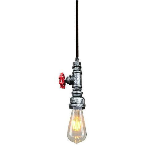 Lámpara Colgante Retro Vintage Bombilla E27 Colgante de Luz Antigua Luz Colgante Clásica Plata para Pasillo de Cocina En Casa