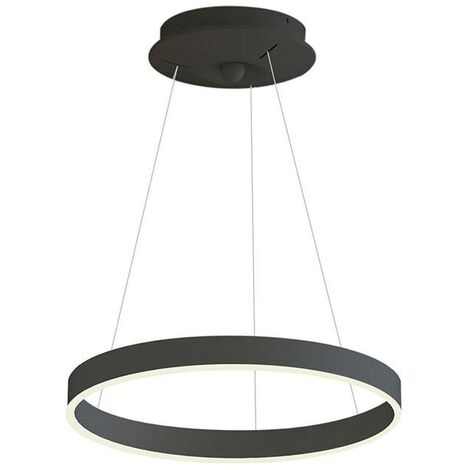 Lámpara colgante RINGEND 28W, negro, Triac regulable, Ø40cm, Blanco neutro, regulable