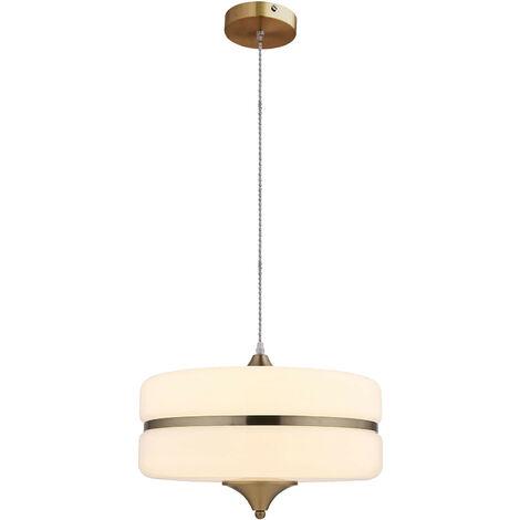 Lámpara colgante Sarod blanco y dorado - 50231021673898
