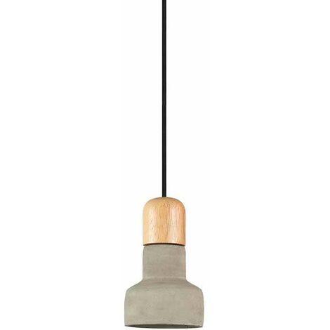 Lámpara Colgante Serie Concrete Wood Gris