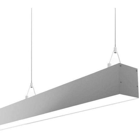 Lámpara colgante SERK DUAL, 28W, 120cm, regulable + mando, Blanco dual, regulable